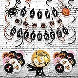 SHLMO Globo con letras de Halloween y globo de decoración de 16 pulgadas con monograma de Halloween Set Globo Halloween calabaza araña conjunto