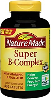 Nature Made Super B-Complex with Vitamin C 460 Tablets Dietary Supplement
