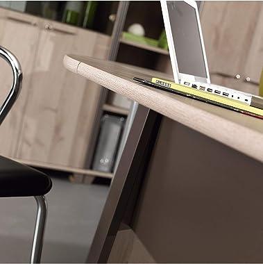 CaliCosy Bureau Style Industriel avec Voile de Fond L80 cm - Fabrication Française