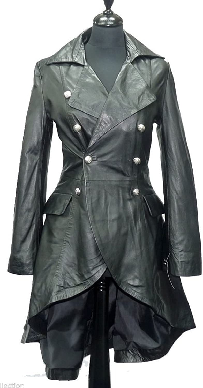 Gothic_Master Victorian Gothic Vintage Vampire Military Style Corset Back Coat Black