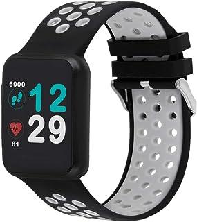 X-WATCH 54043 Keto Sun Reflect - Smartwatch, Monitor de Ejercicio, pulsómetro, Resistente al Agua IP68, batería hasta 20 días, Android e iOS, Color Plateado