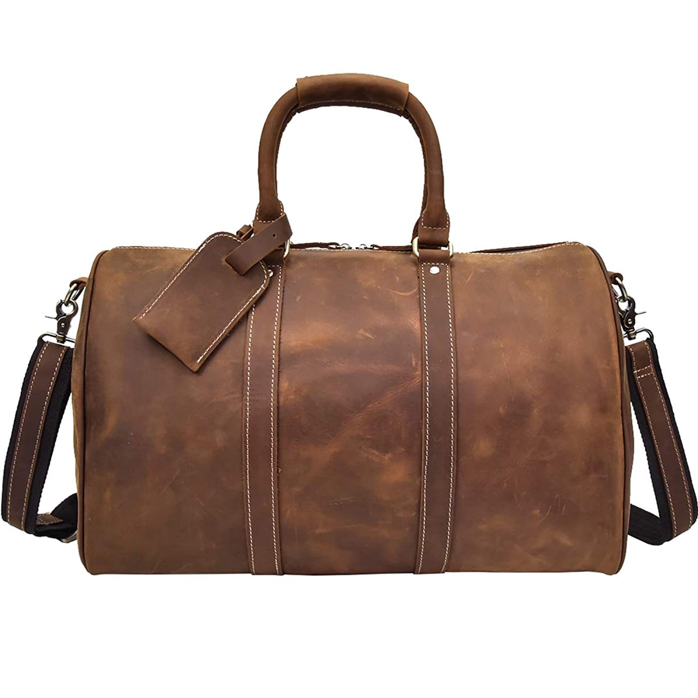 コンピューターを使用する悪性リスナー本革 ボストンバッグ メンズ 2泊 旅行鞄 レザートラベルバッグ 大容量 2way 耐久 レトロ 牛革 ト ラベルバッグ ゴルフ鞄 旅行バッグ 45cm