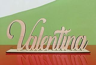 Nome o Scritta Personalizzata legno per eventi, compleanni con larghezza max 30cm altezza 11cm con base d'appoggio