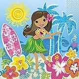 Hawaïen Beach Party Serviettes en Papier, Lot de 16