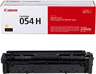 Canon Genuine Toner, Cartridge 054 Yellow, High Capacity (3025C001) 1 Pack, for Canon Color imageCLASS MF641Cdw, MF642Cdw, MF644Cdw, LBP622Cdw Laser Printers