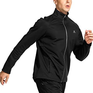 LAMEDA Men's Windproof Cycling Jacket Thermal Fleece Softshell Running Jacket for Outdoor and Multi Sports