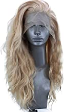 Oucan 24Inch Human Hair Women's Flax Fluffy Wavy Synthetic Lace Front Wig Long Wigs Natural Look