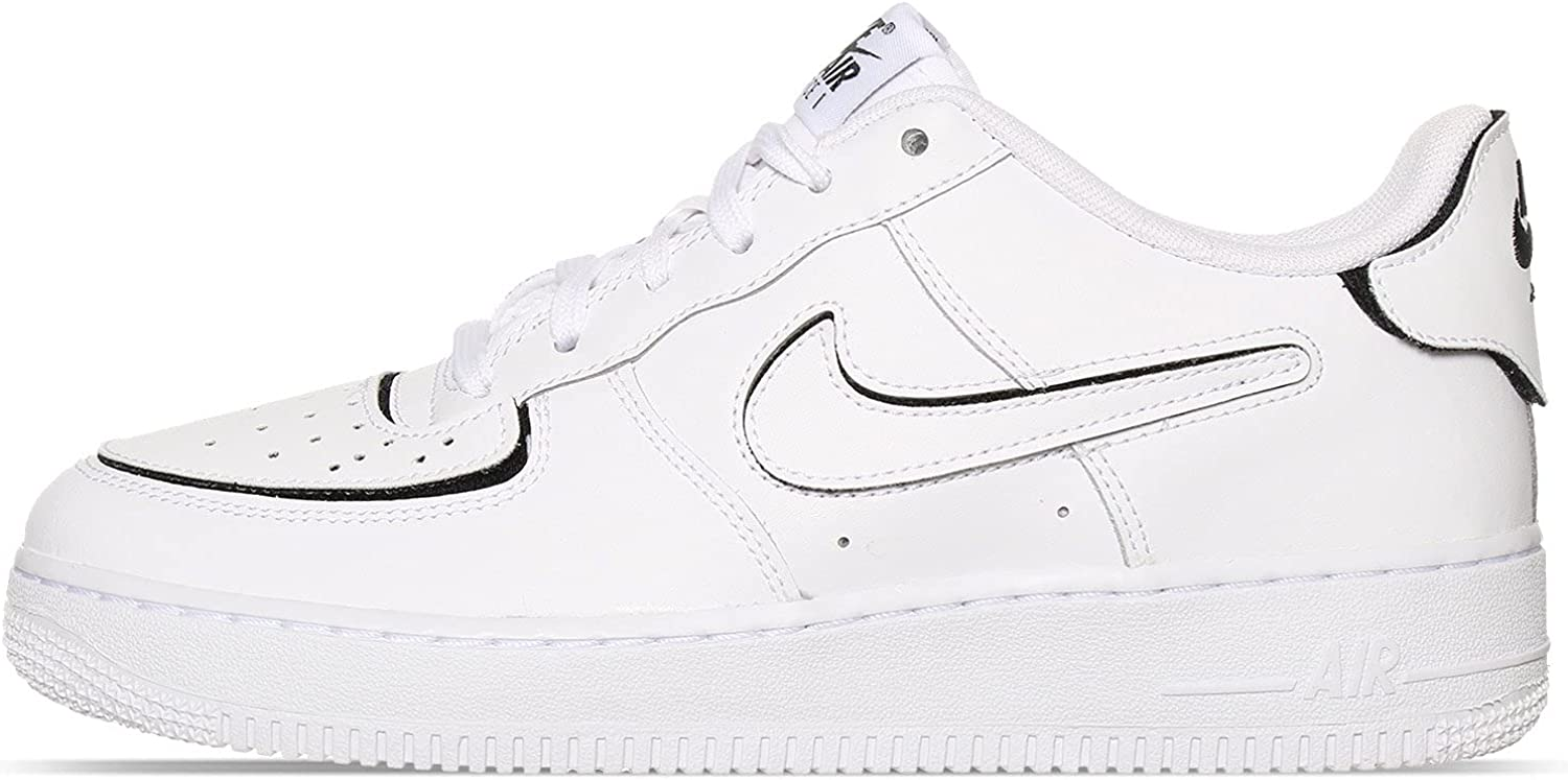 Nike Big Kids AIR Force 1 White Shoes CT3840-100 Super sale Max 61% OFF Casual Black