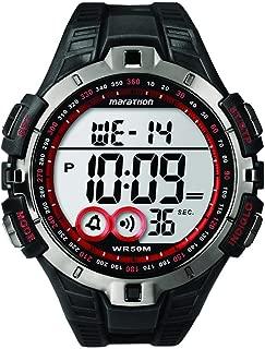 Marathon by Timex Men's T5K423 Digital Full-Size Black/Gunmetal Gray/Red Resin Strap Watch