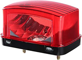 CPOWACE Taillight Housing Lens Cover Fit for Yamaha Grizzly Big Bear 250 400(Red)