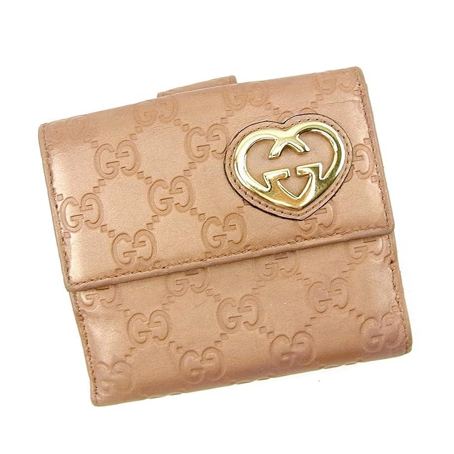 カビ石鹸有効化(グッチ) Gucci Wホック財布 二つ折り 財布 メタリックピンク グッチシマ レディース 中古 S635