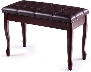 Giantex Piano Bench PU Leather W/Padded Cushion and Music...