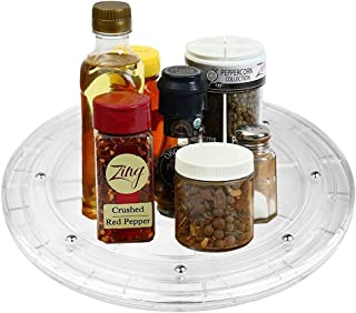 4 inch Rotating Lazy Susan Turntable Kitchen Base Organizer Turn Dining Table Round Spice Rack Rolling Display Rack Rotary Bearing Swivel Plate For Cake Kitchen Pantry Decor