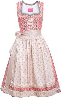 Krüger Dirndl Damen Trachten-Mode Midi Dirndl Vanessa in Pink traditionell