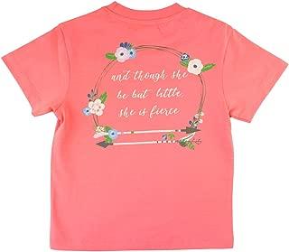 RuffleButts Little Girls Short Sleeve Signature Graphic Southern Pocket Tee