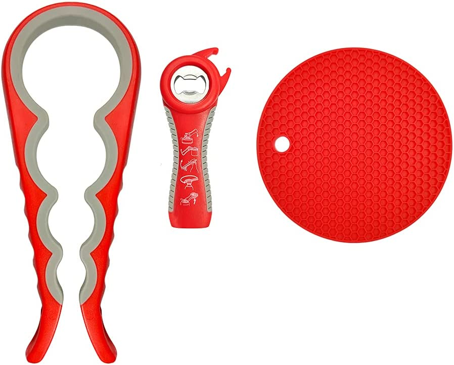 Owfvlazi Great interest Jar Bottle Opener Set 5-in-1 Recommendation Can Rubber G Open Lid and