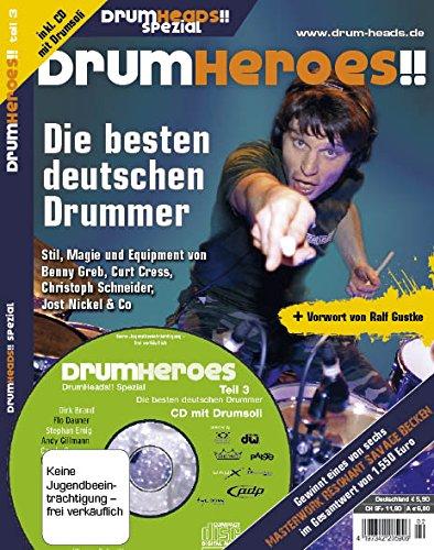 DrumHeroes!! Teil 3: Die besten deutschen Drummer inkl. CD mit Drumsoli