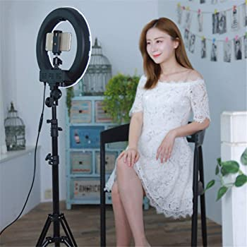 Color : E DFYYQ LED Floor Ring Light with Tripod USB Charging 3 Kinds of Light Mode Fill Light Network Live Selfie Lamp Flashes