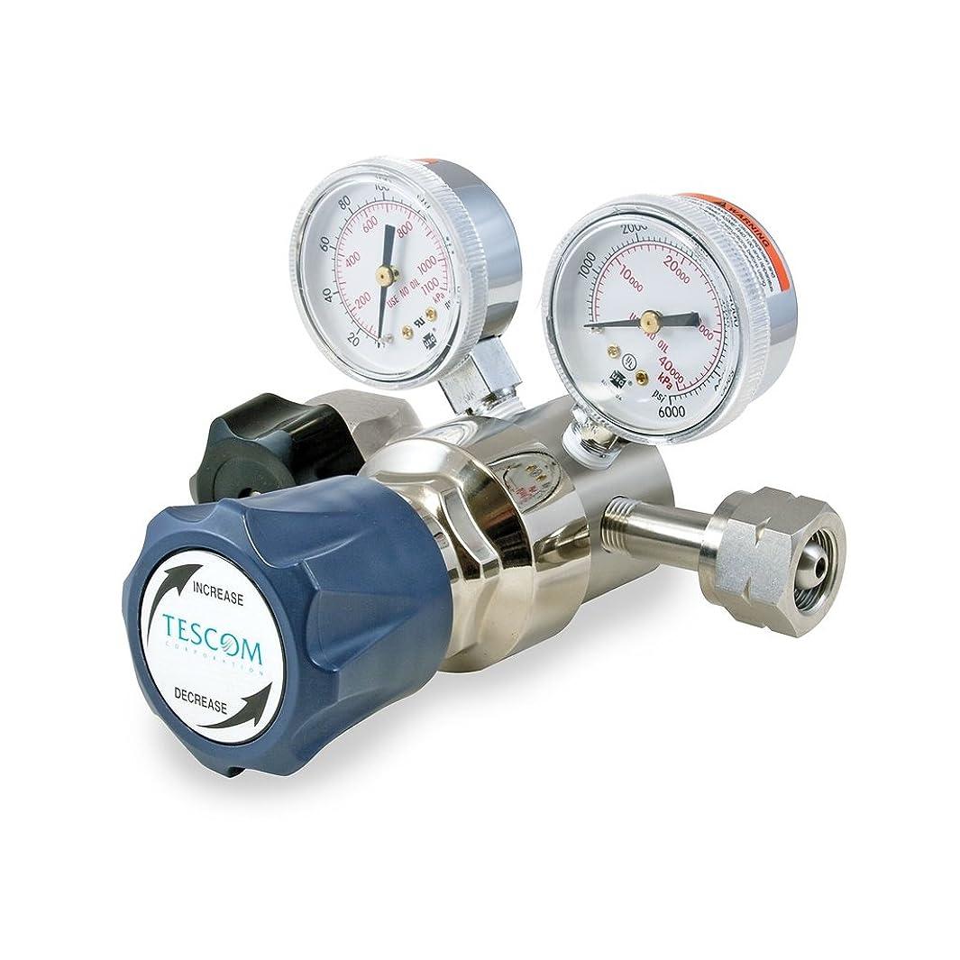 TESCOM SG1P5152-00B10 SG1 Single-Stage Pressure Regulator, Plated Brass Body, 0-250 PSIG, SST Diaphragm, 5 Port, 0.2 CV, 1/4