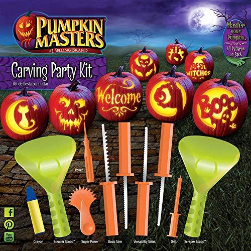 Kürbis Masters Halloween Kürbis Party Schnitz-Set – 12 Muster