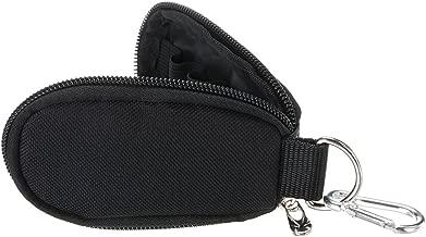 Hipiwe Essential Oil Key Chain Carrying Case - Holds 10 5/8 Dram (2 ml) Vials Bottles - Portable Essential Oils Keychain Pouch Kit Travel Bag for Oil Bottles(without bottles) (Black)