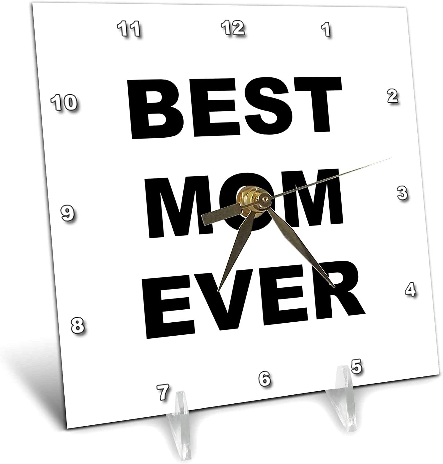 3dRose Stamp City Import - Typography Best Direct stock discount Black Mom Ever. Lette Bold