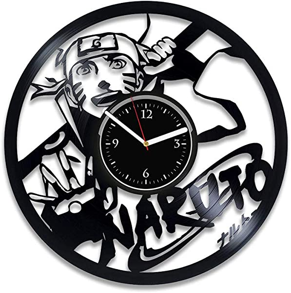 Clock Naruto Vinyl Record Wall Clock Anime Wall Clock Exclusive Naruto Vinyl Wall Clock Cartoon Wall Art Birthday For Fan Naruto Cartoon Xmas For Kids