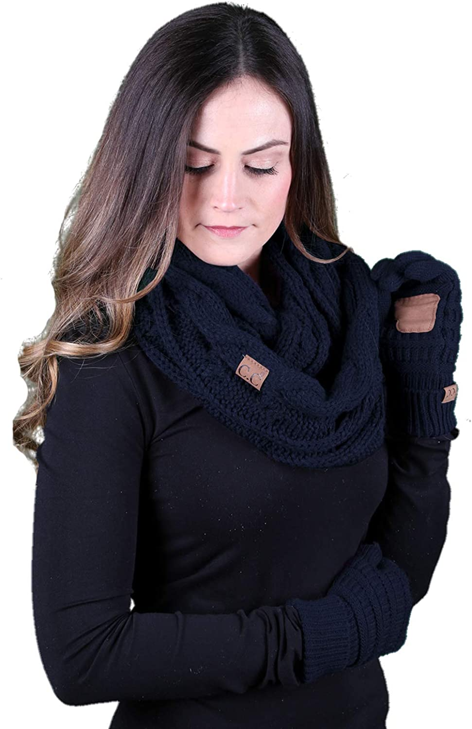 Texting Gloves Infinity Fort Worth Mall San Diego Mall Navy - Scarf