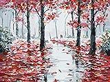 HALFLEMART Dipingere con i Numeri Kit Fai-da-Te Pittura su Tela Set di pigmenti Bambini Adulti Regalo-Foresta di mangrovie 30 × 40 cm (Senza Cornice)