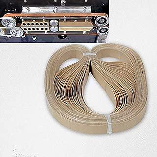 Juup 50pcs Teflon Belt for Continuous Sealing Machine Continuous Band Sealer Plastic Band Film Bag Sealer Strip