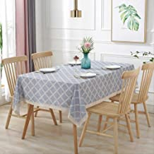 1pcs Plaid Tablecloth Household Waterproof Dustproof Tablecloth Rectangular Coffee Table Cloth