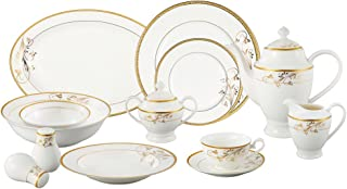gold china set