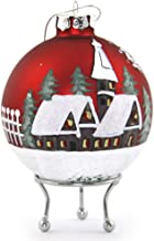 The Christmas Cart Personalised Red Christmas Village Bauble | Customised Christmas Tree Decoration | Christmas Ornament w...