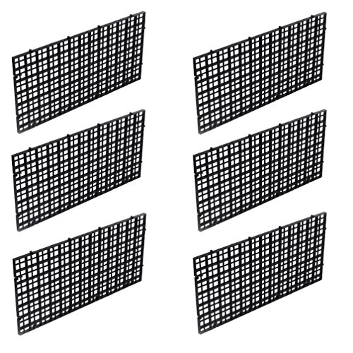 Wetrys Trennwand für Aquarien, mit Gittereinsatz, Schwarz, 6 Stück