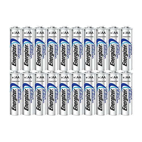Energizer Ultimate Lithium AA Size Batteries - 20 Pack
