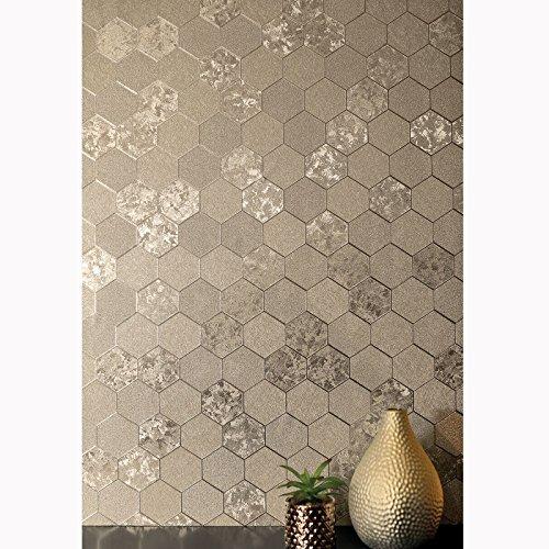 Arthouse 294701 Foil Honeycomb Tapete Kollektion Illusions, Champagne, 10.05 x 0.53 m