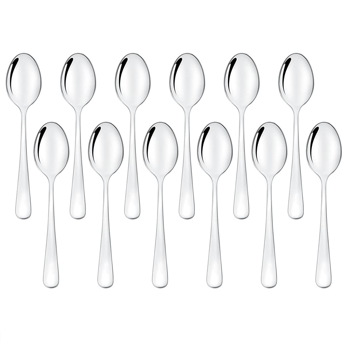 Demitasse Spoons Set of 12, Mini Coffee Spoons, LEYOSOV Stainless Steel Espresso Spoons, Small Spoons for Dessert, Tea, Appetizer, 4 inch