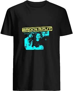 Brodii Split Band Tee T shirt Hoodie for Men Women Unisex
