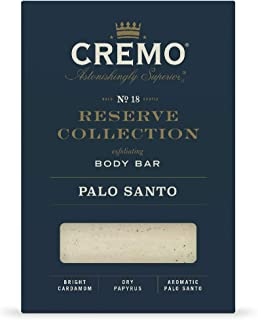 Cremo Palo Santo Reserve Collection Exfoliating Body Bar with Shea Butter, 6 Ounce