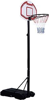 Outsunny HOMCOM Canestro da Basket da Esterno con Supporto e Altezza Regolabile in Acciaio 73 × 49 × 190-250 cm