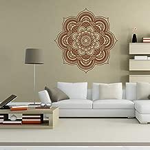 Leegor Hot Sale Mandala Flower Bedroom Wall Art Stickers Mural Home Decor Vinyl Poster Scene Decal (Brown)