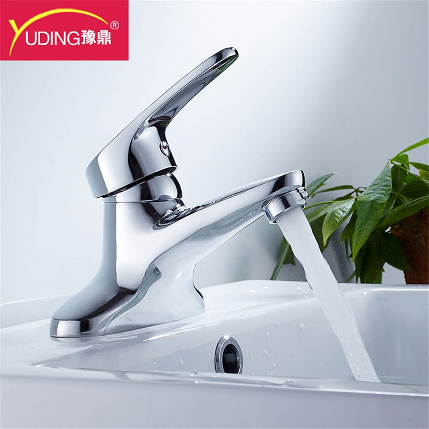 ETERNAL QUALITY Bathroom Sink Basin Tap Brass Mixer Tap Washroom Mixer Faucet 2 holes basin mixer full brass body and cold water faucet 2-hole 3-hole wash-hand basin basi