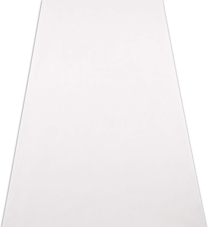 Monogram Simplicity Personalized Aisle Runner Plain White