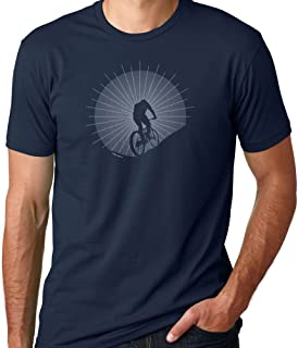 Indigo Legend Mountain Bike T Shirt for Men, Father Son Matching Shirts, Conquering The Hill