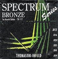 【 並行輸入品 】 Thomastik (トマスティーク) SB112 Spectrum Bronze アコースティックギター弦 Medium-Light
