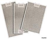 SILVERLINE MFF12-E-9 Edelstahl-Metallfettfilter, 12-lagig, für Beta Deluxe Wandhaube/Dunstabzugshaubenzubehör/Filter