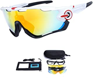 F-sport 2016 Newest Outdoor Sports Fashion Sunglasses.Great for Cycling Driving Hiking Skiing or Fishing.Changeable Lenses and Unbreakable High Strength (New White)