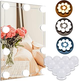 Cosy Life Vanity Mirror Lights Kit, Hollywood Style LED Lights with 10 Bulbs, Makeup Lights for Vanity Table Set and Bathroom Mirror