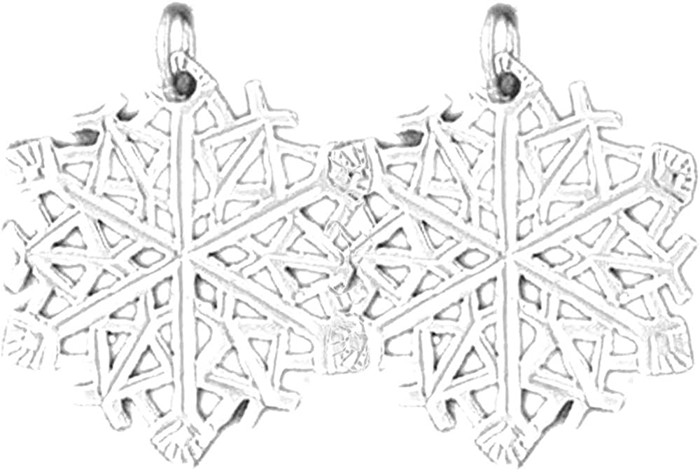 Max 83% OFF Jewels Obsession Happy Holiday Earrings Fl Snow White Gold Tulsa Mall 14K
