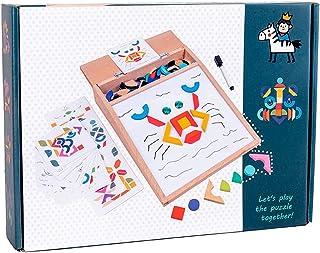لوحة رسم متعددة الألوان أحجية مغناطيسية مزخرفة بألوان مختلفة من كوسيو مجموعة ألعاب تعليمية طبيعية تفاعلية للأطفال